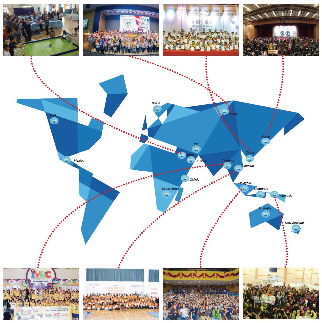 IYRC world map
